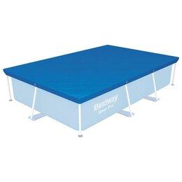 Тенты и подстилки - Тент для прямоугольных каркасных бассейнов 259 х 170 см, 58105 Bestway, 0