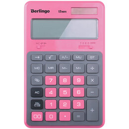 Калькуляторы - BERLINGO Калькулятор настольный BERLINGO Hyper, 12 разр., 171х108х12мм, розовый, 0