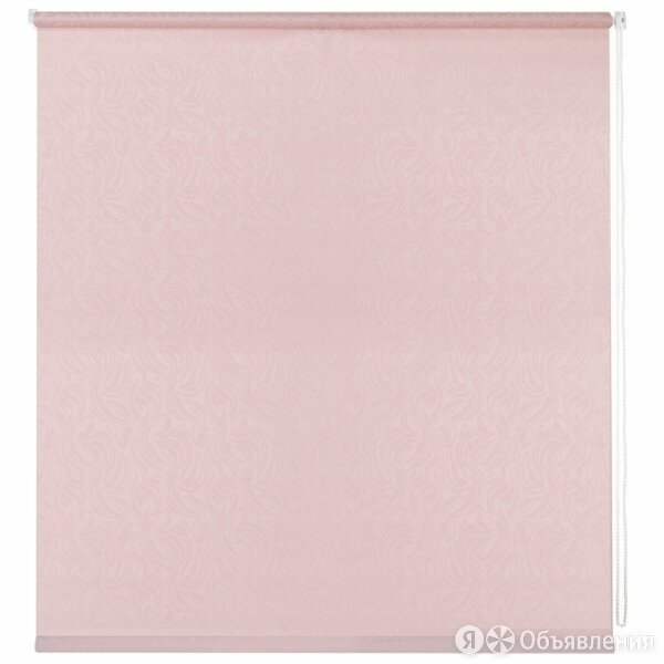 штора рулонная мини волнистые узоры 50х160см розовый по цене 913₽ - Римские и рулонные шторы, фото 0