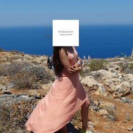 Платья и сарафаны - Персиковое / Синее / Сине-белое Платья, 0