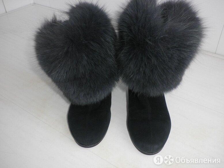 Полусапоги (ботильоны) зима, замшевые, размер 36, Jelena по цене 1300₽ - Полусапоги, фото 0
