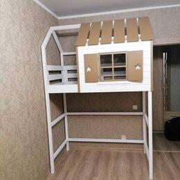 Кроватки - Кровать чердак домик , 0