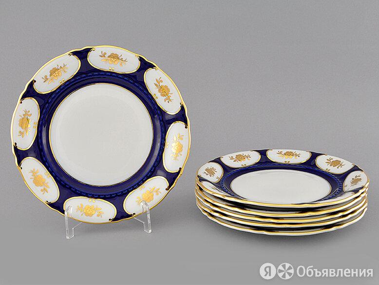 Набор тарелок десертных 19 см, 6 шт, Форма Соната Элизабет кобальт по цене 10310₽ - Блюда, салатники и соусники, фото 0