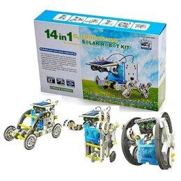 Конструкторы - Робот-конструктор на солнечной батарее 14 в 1, 0