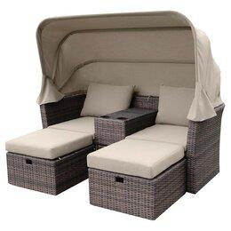 Плетеная мебель - Набор уличный AFM-330B Brown, 0