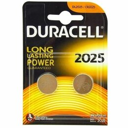 Батарейки - Батарейки Duracell CR2025 2шт, 0