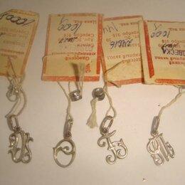 Кулоны и подвески - Подвеска буква серебро 925 проба на выбор винтаж 80х годов, 0
