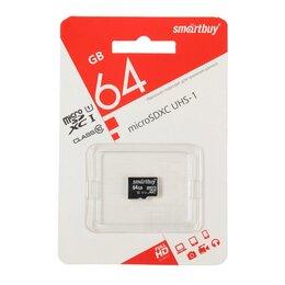 Карты памяти - Карта памяти Smartbuy microSD, 64 Гб, SDHC, класс 10, 0