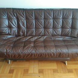 Диваны и кушетки - Кожаный диван кровать , 0