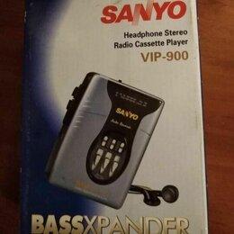 Музыкальные центры,  магнитофоны, магнитолы - Кассетный плеер sanyo vip-x33, 0