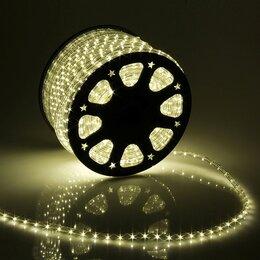 Светодиодные ленты - LED шнур 13 мм, круглый, 100 м, фиксинг, 2W-LED/м-36-220V в компл. набор д/по..., 0