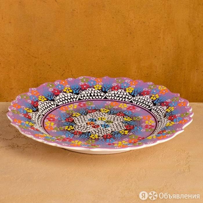 Тарелка плоская 32см 'Жемчужина сиреневая' по цене 1815₽ - Тарелки, фото 0