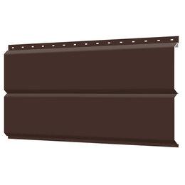 Сайдинг - Сайдинг металлический ЕВРО-БРУС под брус RAL8017 Шоколад, 0