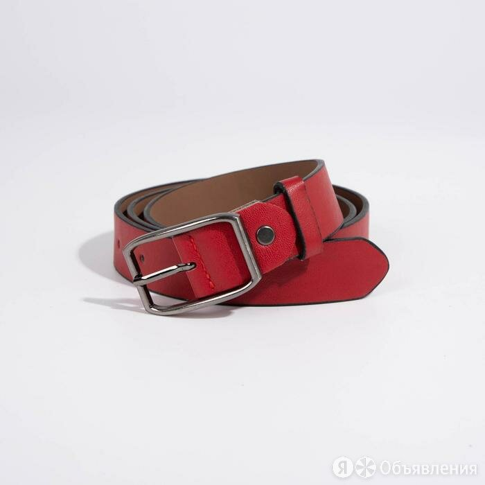 Ремень женский, ширина 3 см, винт, пряжка металл, цвет красный по цене 488₽ - Ремни, пояса и подтяжки, фото 0