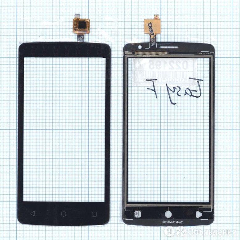 Сенсорное стекло (тачскрин) для Highscreen Easy F черное по цене 82₽ - Защитные пленки и стекла, фото 0