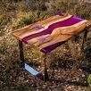 Стол-река из слэба и эпоксидной смолы по цене 35300₽ - Мебель для кухни, фото 0