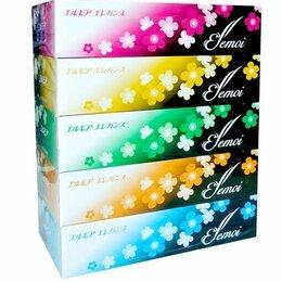 """Бумажные салфетки, носовые платки - Бумажные двухслойные салфетки """"Ellemoi. Elegance"""", 200 штук (спайка 5 пачек), 0"""