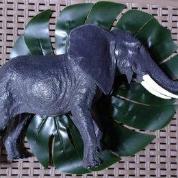 Игровые наборы и фигурки - Большой слон (реалистичная фигурка высотой 18см), 0