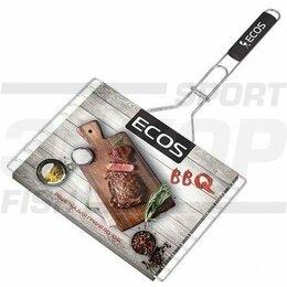 Решетки - Решётка-гриль Ecos плоская 32х25х1,5 см хром сталь, 0