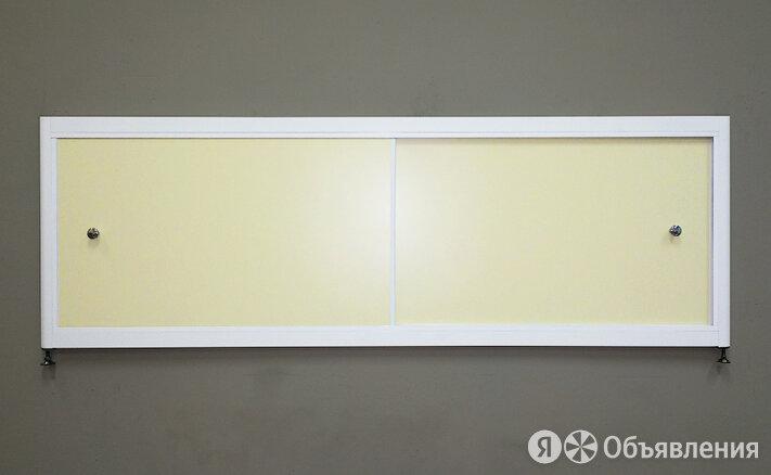 Экран под ванну A-SCREEN слоновая кость 1700х500-650 белый профиль, 2 дверцы по цене 7140₽ - Комплектующие, фото 0