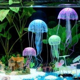 Аквариумные рыбки - Искусственная силиконовая медуза, 0