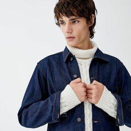 Куртки - Новая Джинсовая куртка (пиджак) Bershka селвидж, 0