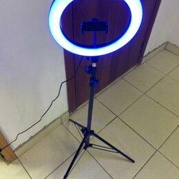 Штативы и моноподы - Кольцевая светодиодная лампа 26 см разноцветная, 0
