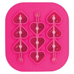 Формы для льда и десертов - Форма силиконовая для льда на палочке Tovolo Сердечки 16х15 см, 0