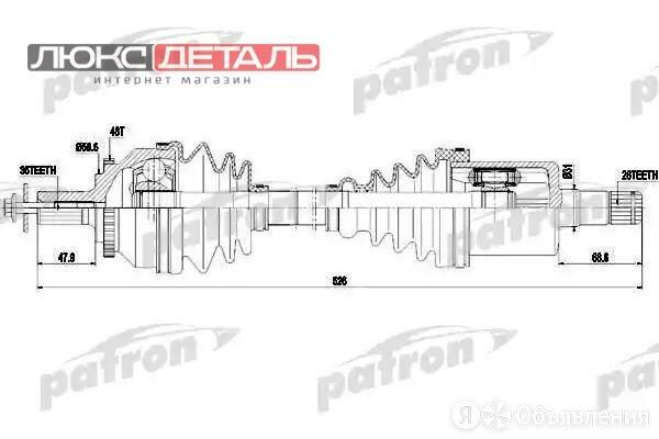 PATRON PDS0420 Полуось передняя левая 36x525x26 ABS 48T VOLVO S60 2.0 T/2.3 T... по цене 8058₽ - Трансмиссия , фото 0