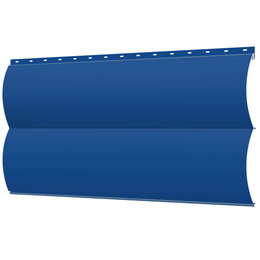Сайдинг - Сайдинг металлический Блок-Хаус под бревно RAL5005 Синий Сигнал, 0