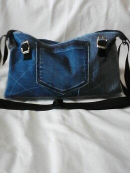 Сумки - клатч женский джинсовый ручной работы, 0