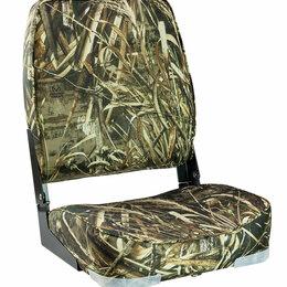 Плетеная мебель - Кресло мягкое складное Economy высокая спинка, цвет камуфляж осень, Marine Ro..., 0