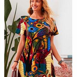 Платья - Платье летнее (хлопок), новое, р. 52-54, 0