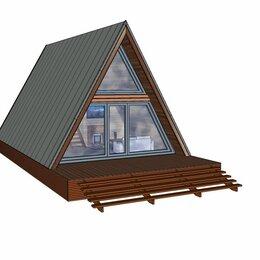 Готовые строения - Проект Aframe-баня 6*9, с верандой, 0