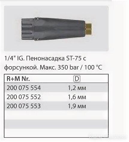 Пенная насадка Hawk ST-75 по цене 4324₽ - Насосы и комплектующие, фото 0