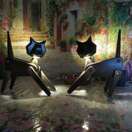 Ночники и декоративные светильники - Светильник кошка из дерева, 0