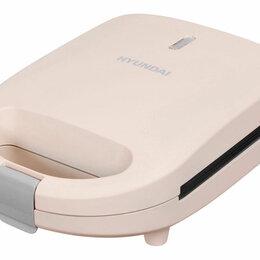 Сэндвичницы и приборы для выпечки - Сэндвичница Hyundai HYSM-1101 коричневый, 0