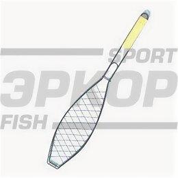 Решетки - Решётка-гриль для рыбы Метиз хром дер ручка разм 57х13х31 см, 0