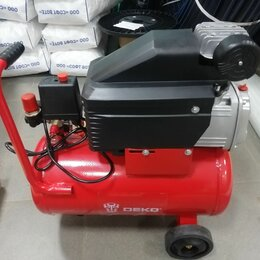 Воздушные компрессоры - Компрессор масляный DECO 24 л, 1.5 квт, 0