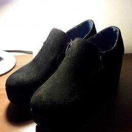 Ботинки - Полуботинки замшевые., 0