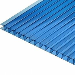 Поликарбонат - Поликарбонат сотовый 6мм*2,1м*6м синий, 0