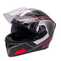 Мотоэкипировка - Шлем KIOSHI Avatar 316  интеграл с очками красный, 0