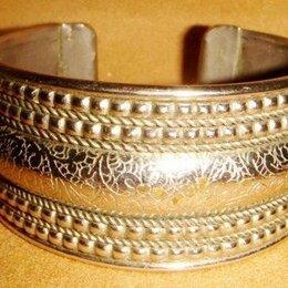 Браслеты - Браслет мельхиор цветочный Индия винтаж 80х годов, 0