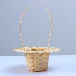Корзины, коробки и контейнеры - Корзина «Шляпка»,  25×9/45 см, бамбук, 0