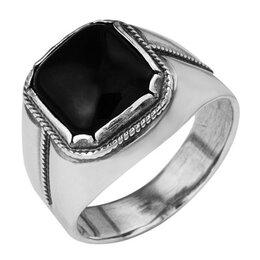Свадебные украшения - Перстень мужской посеребрение Black, 19 размер, 0