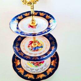 "Блюда, салатники и соусники - Этажерка 3-х ярусная leander ""мэри-энн /фиалка"" / 157755, 0"