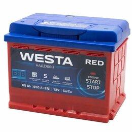 Аккумуляторы и комплектующие - WESTA RED EFB 62 А.ч, 0