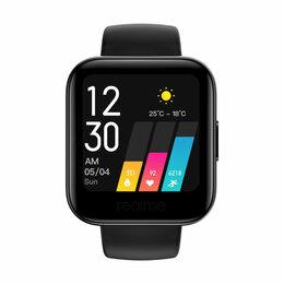 """Умные часы и браслеты - Смарт-часы Realme Watch, 35мм, 1.4"""", черный / черный, 0"""