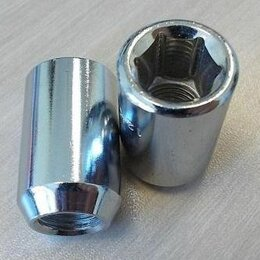Шины, диски и комплектующие - Гайки колёсные под ключ 6 - ти гранник на литые диски, 0