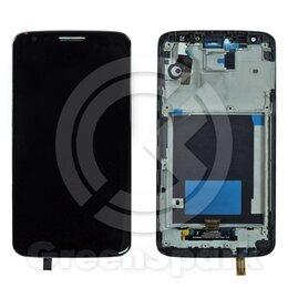 Дисплеи и тачскрины - Дисплей для LG Optimus G2 D802 в рамке +тач черны, 0